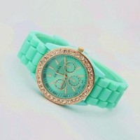 Mint Color Silicone Watch 02 by goodbuy on Zibbet