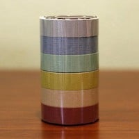 Japanese Masking Tape Pack of 6  Pretty EARTH TONE by PrettyTape