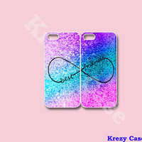 Infinity Best Friends iPhone 5 case, Best Friend iPhone 4 case, Glitter Print iphone case, infinity iPhone case