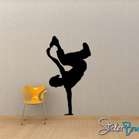 Vinyl Wall Decal Sticker Break Dancer 60inX34in item OSMG138