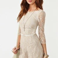 Metallic Lace Romper