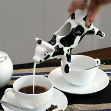 Cow Shape Milk Jug by goodbuy on Zibbet