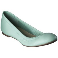 Women's Merona® Emma Genuine Leather Scrunch Flat - Mint