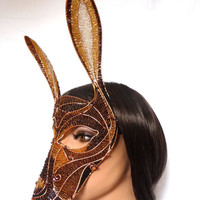 Hare masquerade mask, womens, costume, accessories