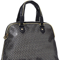BetseyJohnson.com - MESH MADNESS DOME SATCHEL BLACK