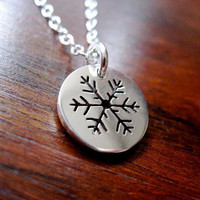 Snowflake Necklace Pendant by GorjessJewellery on Etsy