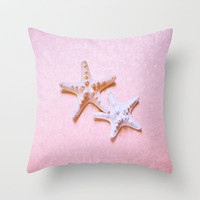 2 Sea Stars Throw Pillow by Lisa Argyropoulos
