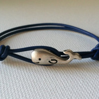Whale Leather Bracelet FREE SHIPPING by Jennasjewelrydesign