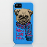 Must Love Pugs iPhone & iPod Case by micklyn
