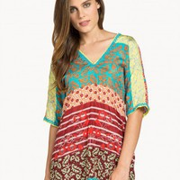 Johnny Was | Triangle Back Dolman Top Multi | Johnny Was Collection