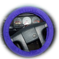 pretty purple soft fleece car Steering wheel cover