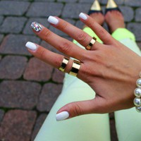BRUSH KNUCKLE RING SET INCLUDES ALL 3pcs