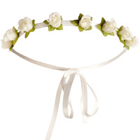Flower Garland | Cream | Accessorize
