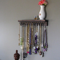 Necklace Organizer Storage by BlackForestCottage on Etsy