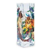 Amazon.com: Tiffany Cats Glass Vase: Furniture & Decor