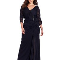 Amazon.com: Adrianna Papell Women's Plus Size Drape Covered Gown: Clothing