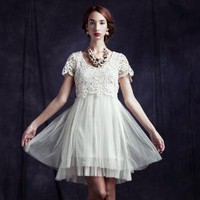 tulle around town lace dress by Ryu - $87.99 : ShopRuche.com, Vintage Inspired Clothing, Affordable Clothes, Eco friendly Fashion