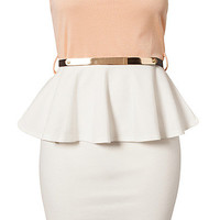 Colour Block Peplum Belt Dress, Club L