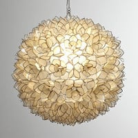 Capiz-Shell Pendant Light