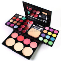 ADS color eyeshadow lipstick blusher powder puff brush Pen Tool Make Up kit W004