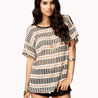 Geo Striped Sweater