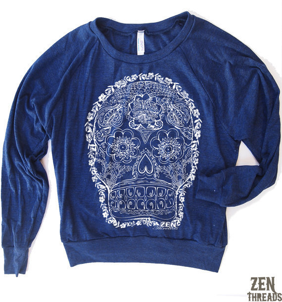 Womens DAY Of The DEAD sweatshirt