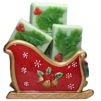 Christmas In July Holly Berry Handmade Soap Red Green Independence Day
