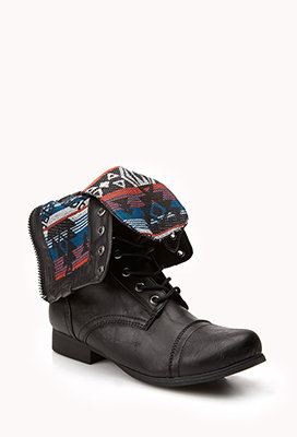 Southwest Bound Fold-Over Combat Boots from Forever 21 | crazy