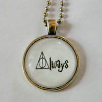 Always Deathly Hallows Necklace. Harry Potter Inspired Necklace. 18 Inch Ball Chain.