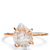 Herkimer Diamond Claw Ring | LEIF