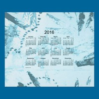Old Turquoise Paint 2016 Wall Calendar Posters from Zazzle.com