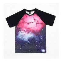 Fashion Future — Men's Baseball-Style Galaxy Tee