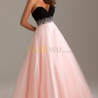 [US$238.99] Elegant A-line Sweetheart Empire Chiffon Tulle Long Prom Dress