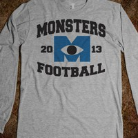 Monsters Football - Cute Stuff - Skreened T-shirts, Organic Shirts, Hoodies, Kids Tees, Baby One-Pieces and Tote Bags