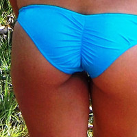 Scrunch Bum Bottoms- Turquoise Shimmer