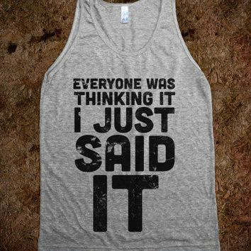 I Just Said It-Unisex Athletic Grey Tank