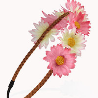 Playful Braided Floral Headband