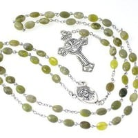 Irish Genuine Connemara Marble Rosary Beads