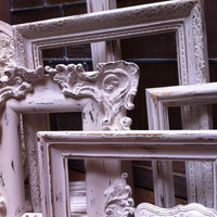 Large Empty Gallery Frame Set Wedding White Shabby by FeFiFoFun