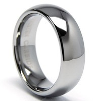 7MM Classic Dome Men's Tungsten Carbide Ring Wedding Band size 6.5