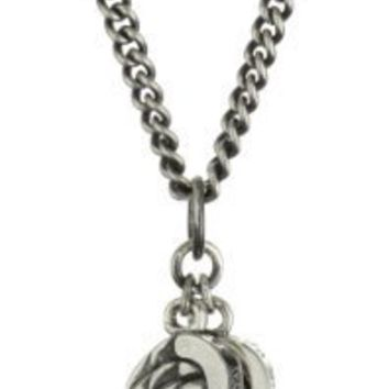 King Baby Men's Double Wing Pendant Necklace