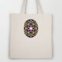 Digital Mandala Tote Bag by Vargamari