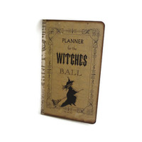 Spell Book, Witch Journal, Witches Notebook, Halloween Planner, Wiccan / Pagan, Book of Shadows, Altered Moleskine