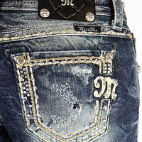 Miss Me Rhinestone Easy Boot Stretch Jean - Women's Jeans | Buckle