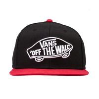 Vans Home Team Snapback Hat, Black Red | Journeys Shoes