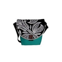 Elegant Indian Pattern Floral Graphic Design Courier Bag from Zazzle.com