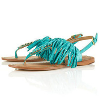 FRINGE Leather Tassle Sandals - Flats - Shoes - Topshop USA