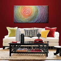 "Amy Giacomelli Painting Abstract Original Large Modern Wall Art for home or office... 24 x 48 ... ""Vortex"""