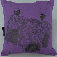 Karmaloop.com - Global Concrete Culture - The Tourist Flag Pillow in Purple by NOOWORKS