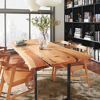 Room & Board - Chilton 84w Cherry Dining Table with Natural Steel Base